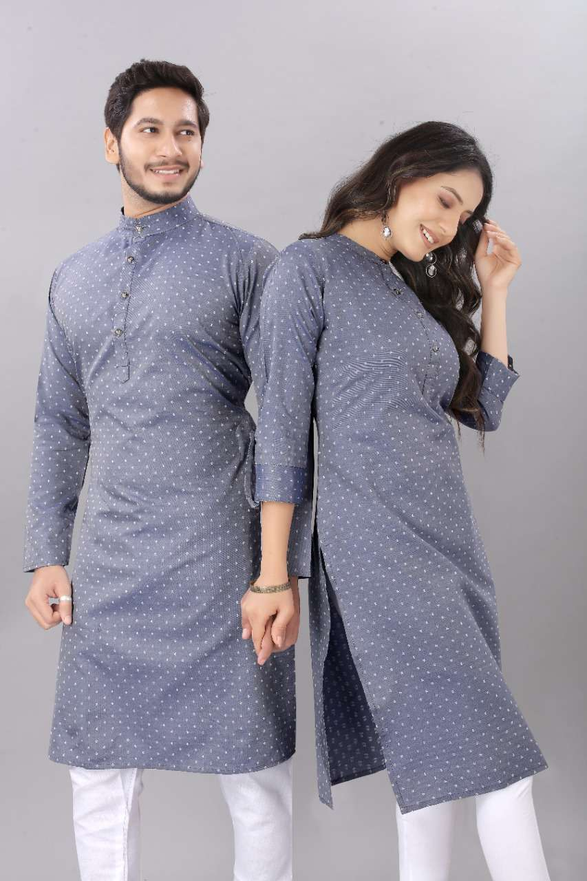 Couple Kurta  Grey color