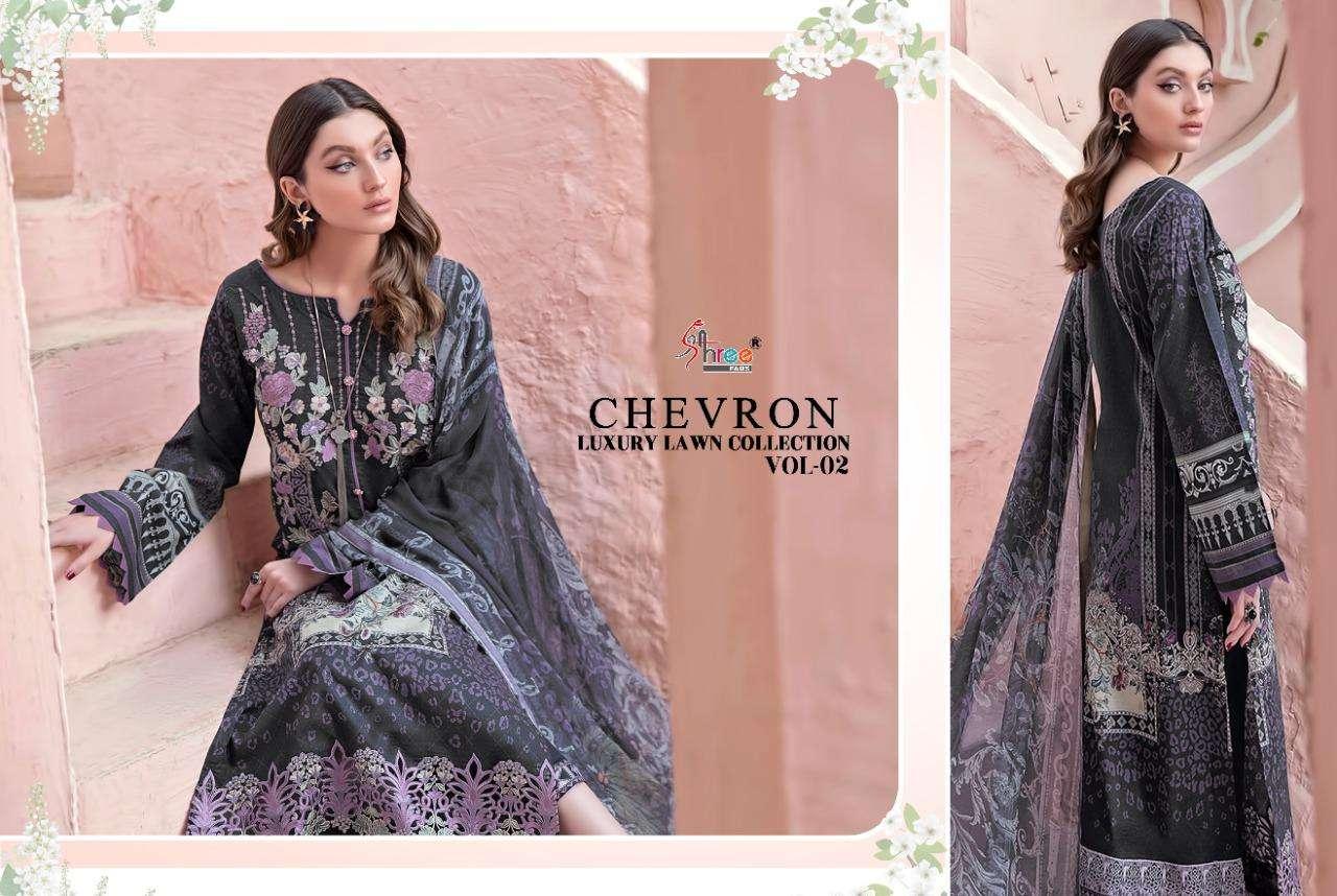 Shree Chevron Luxury Lawn Collection vol  2