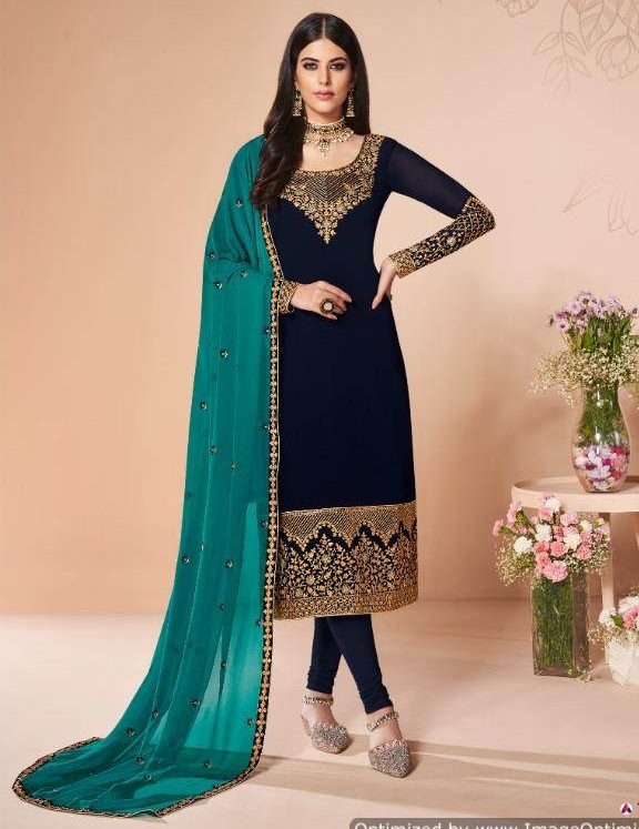 Aashirwad By Cross Stitch Festival Wear Salwar Suits Catalogue