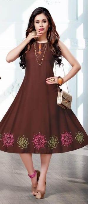 Anokhi By Kinti Printed Rayon Jacket Style Kurti Collection