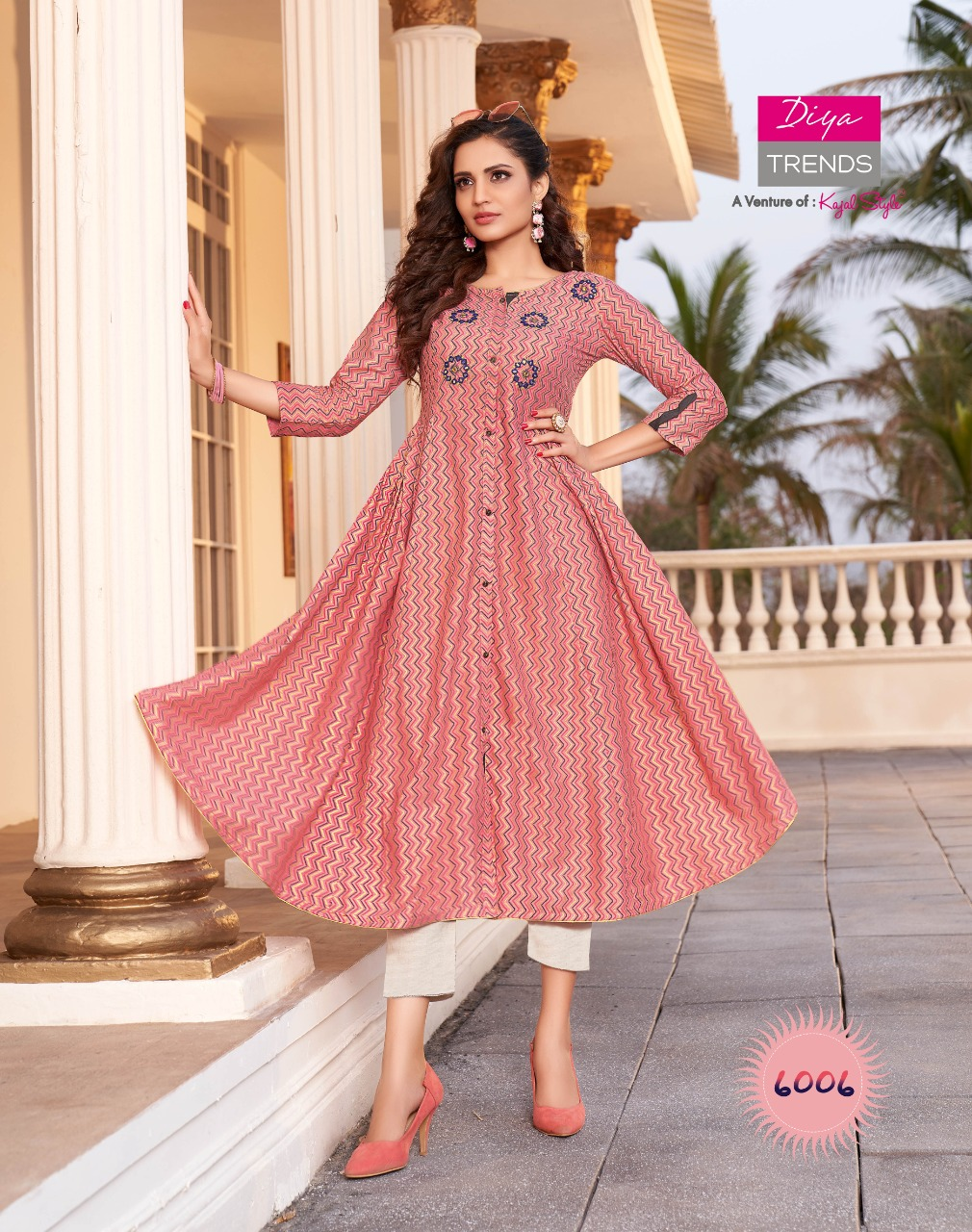 Diya Trends Ethnicity Vol 6  Buy Designer Anarkali kurtis for Women & Girls Online