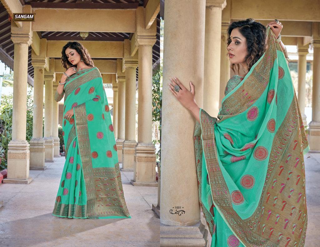 Sangam Presents Gautami Buy Pure Handloom Cotton Sarees Online IN Surat
