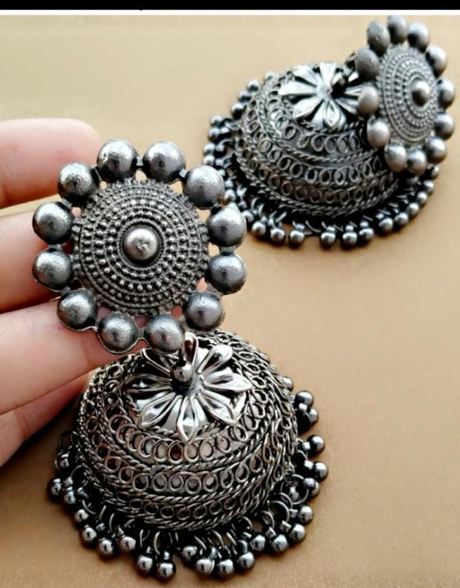 Jhumki Earrings Oxidized Buy Trendy Jhumka Earrings Online in India