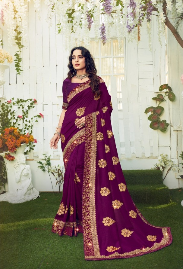 Ranjna Retro Women's Buy Vichitra Saree online in India