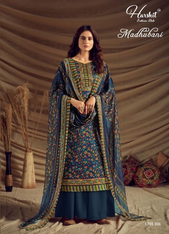 Harshit Madhubani Pure Jam Cotton Dress Material At wholesale Market Surat