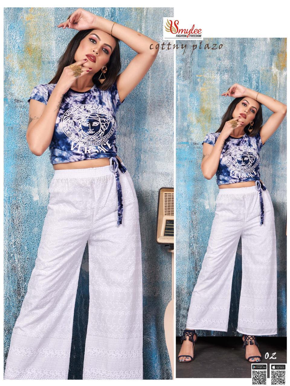 Smylee  presents Cotton Plazo Stylish Western Wear Collection