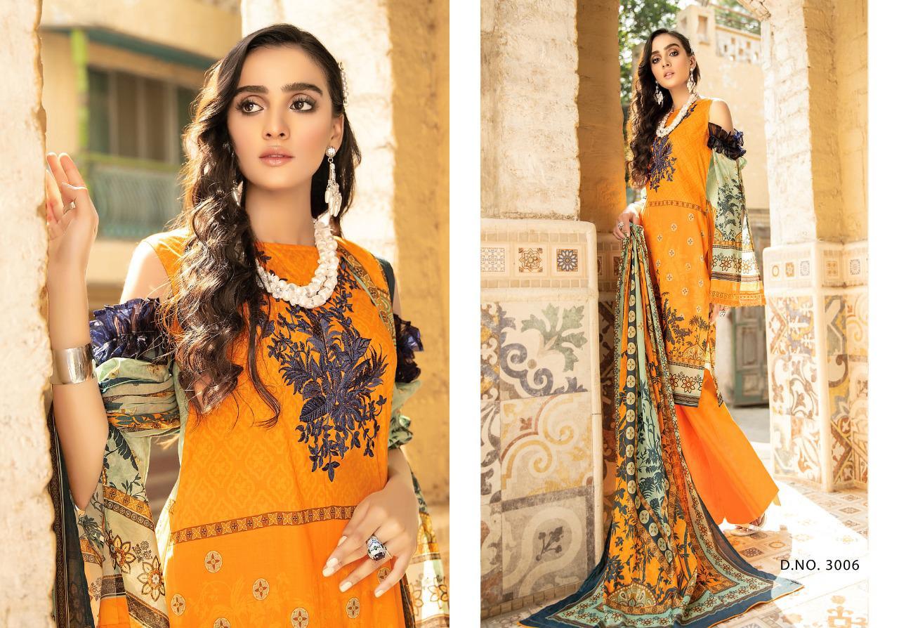 Yashika  Mahnoor vol 3 lawn Printed Dress Material