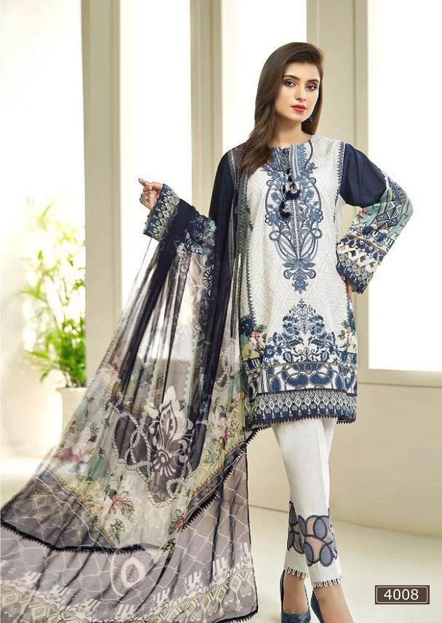 Asifa Nabeel Lawn Collection Vol 4 Karachi Pakistanilawn Suits Wholesale