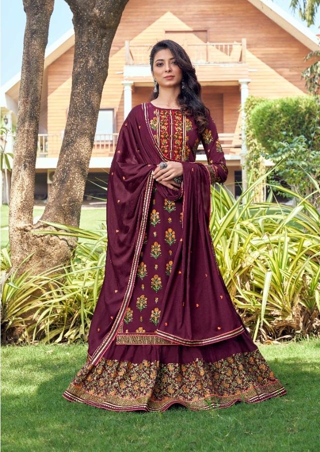 Rangoon Launching Kathak Designer Dress Material