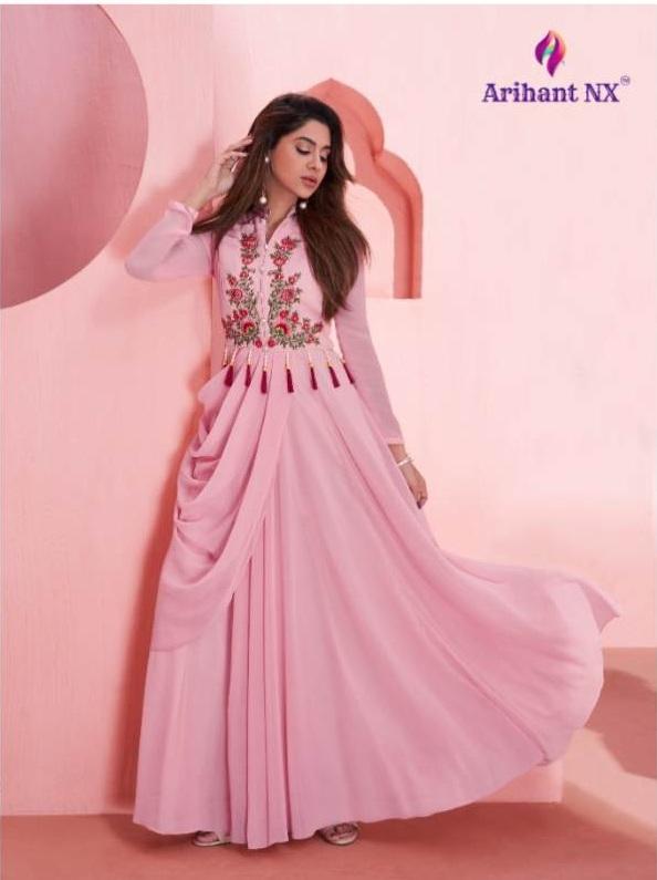 Dhaaga Vol 2 By Arihant Suit Designer Semi Georgette Festive Wear Ladies Gown Catalogue