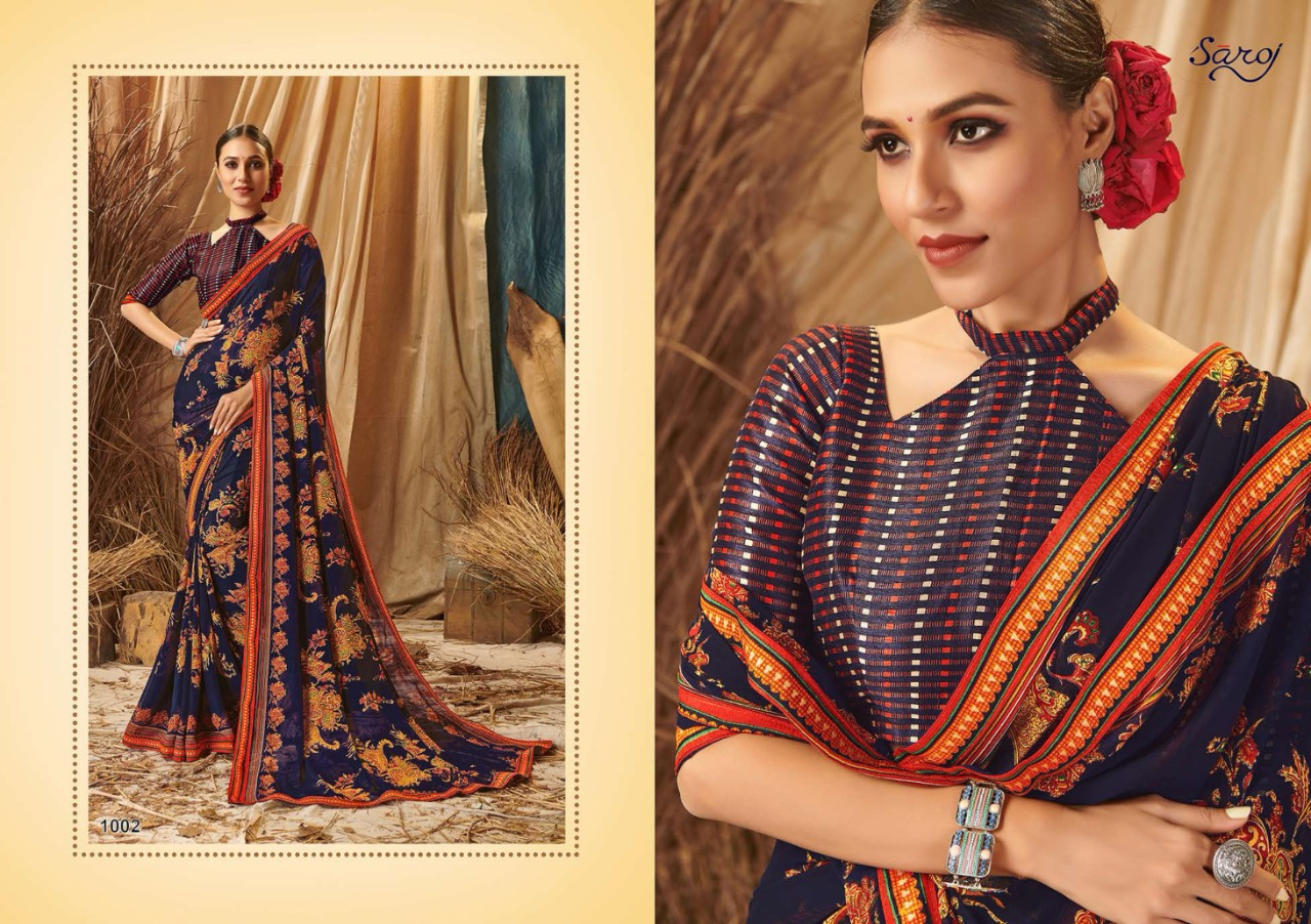 Saroj Presents Saloni Fancy Printed Sarees