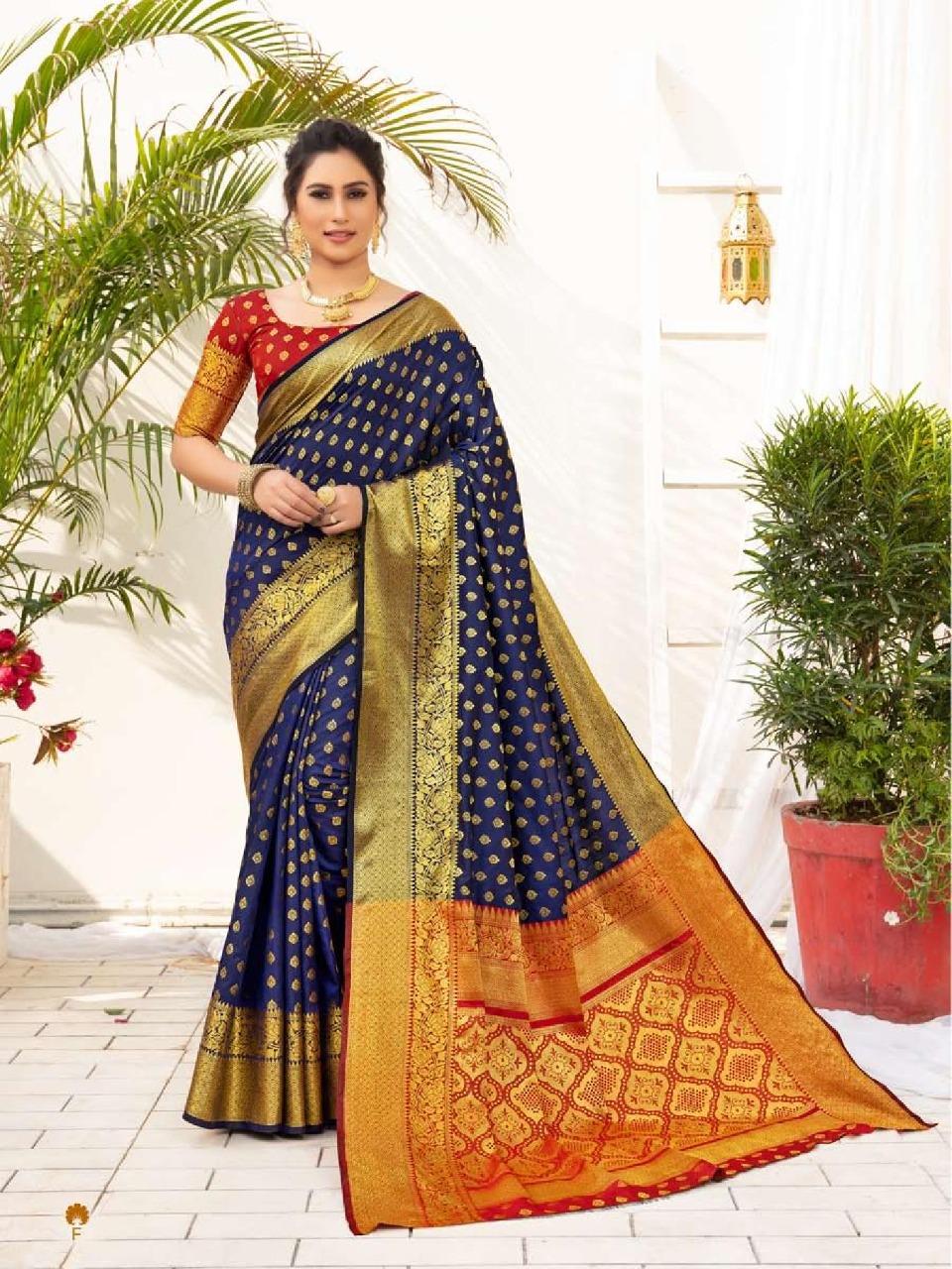 Shangrila  presents  Rajlaxmi Silk Festive Wear Sarees Collection