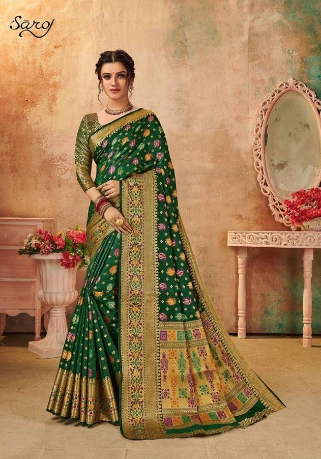 Saroj presents  Monalisa Festive Wear Sarees Collection