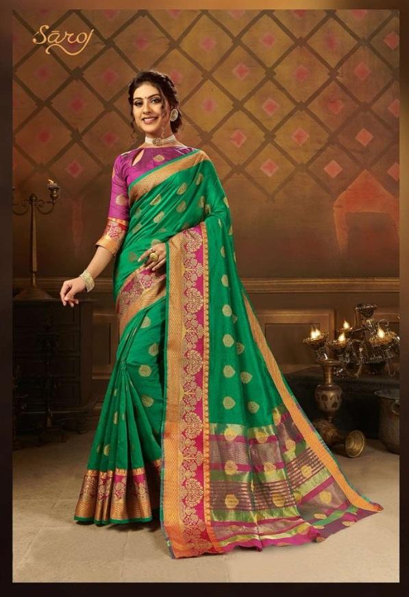 Saroj  presents Aayat  Festive Wear Sarees Collection
