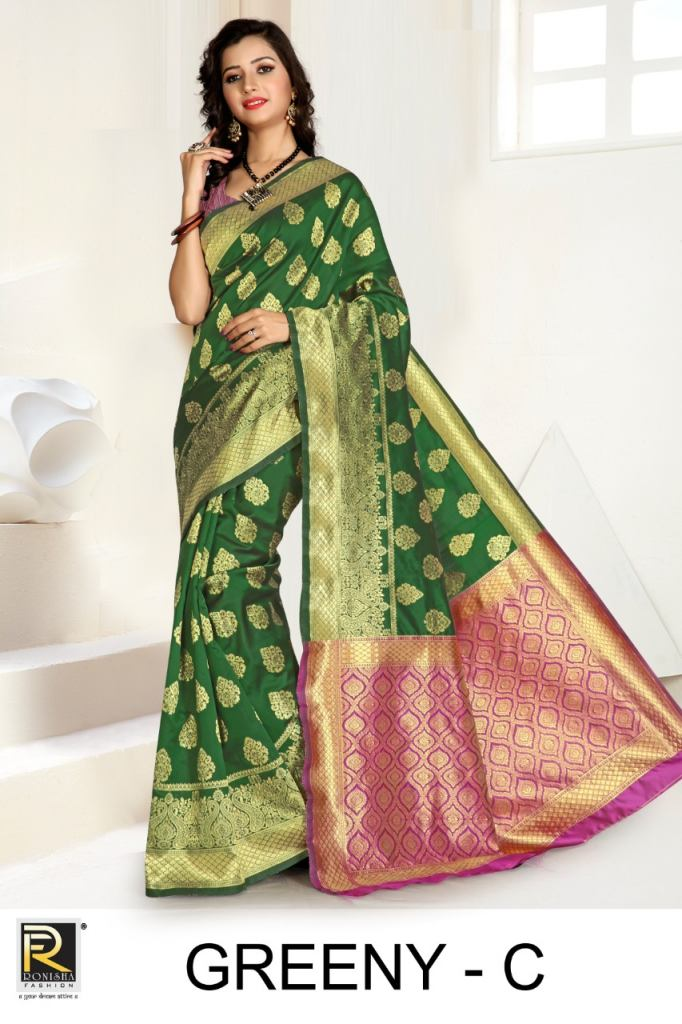 Ranjna presents Greeny Festive wear saree collection