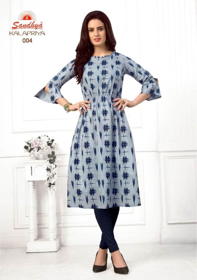 Kalapriya by Sandhya Pure Cotton Printed Kurtis catalogue