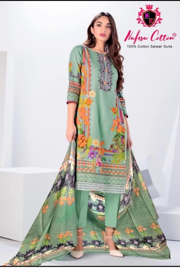 Nafisa presents  Sahil vol  5  Karachi Dress Materials Collection