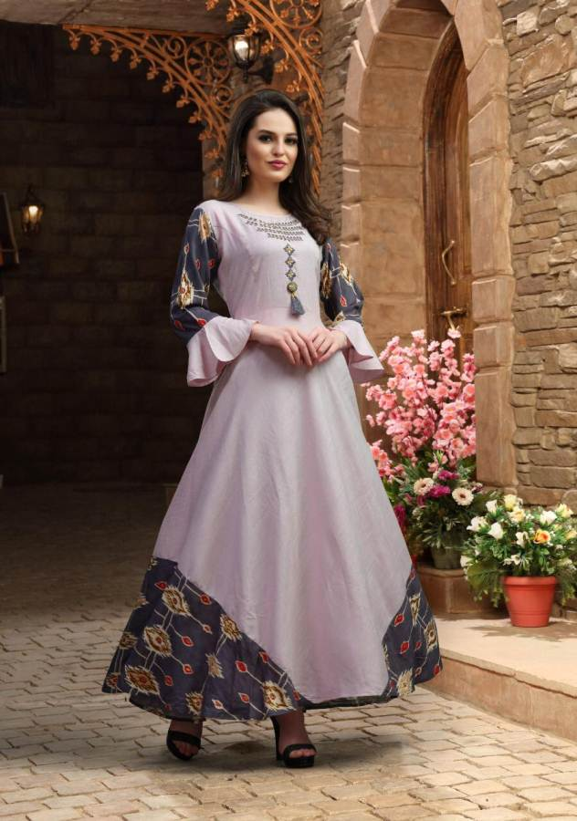 Kastur by Riya party wear long gown style kurtis catalogue