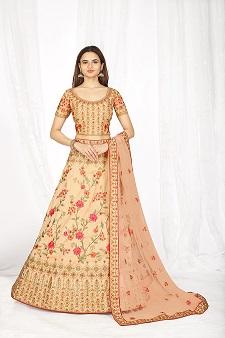 Best Peach Colour Bridal Lehenga Collection