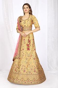 Mustard 5083 Bridal Lehenga Choli