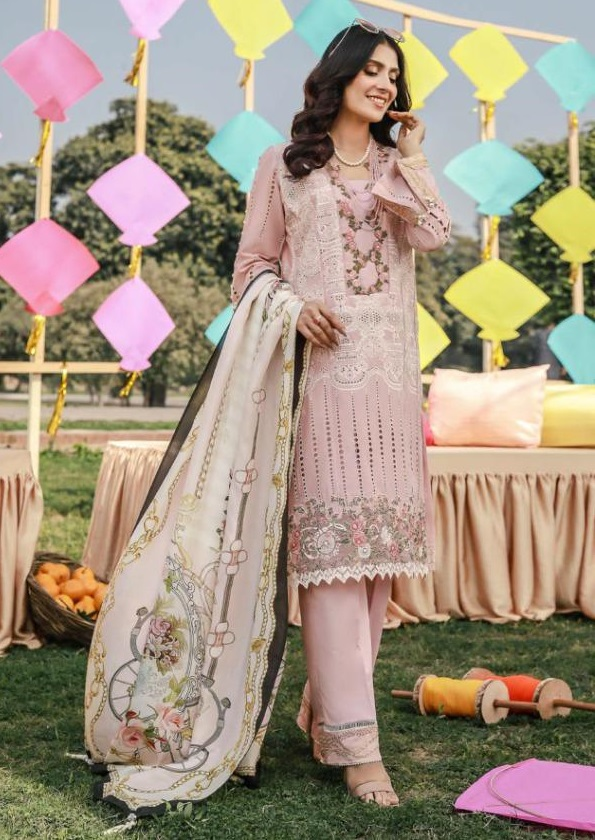 Rawayat Tabaar Vol 3 Multicolor Designer Pakistani Lawn Suit 2021