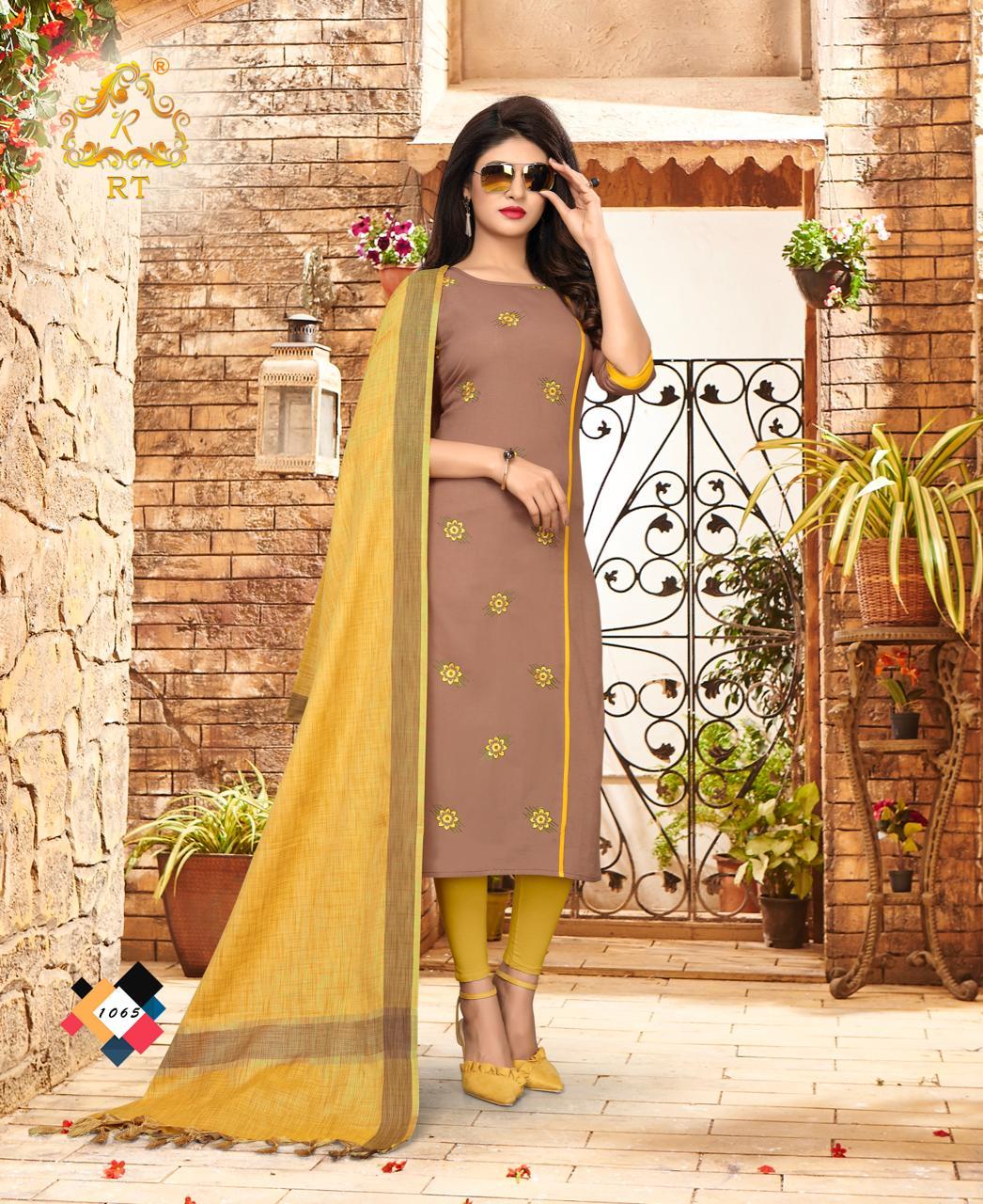 Nari vol 10 by RT casual wear  kurtis with dupatta catalogue