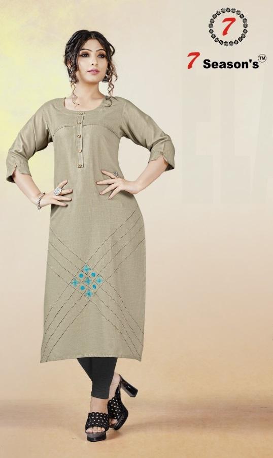 7season'S Harmony New Collection Buy Cotton Kurti Online in Surat