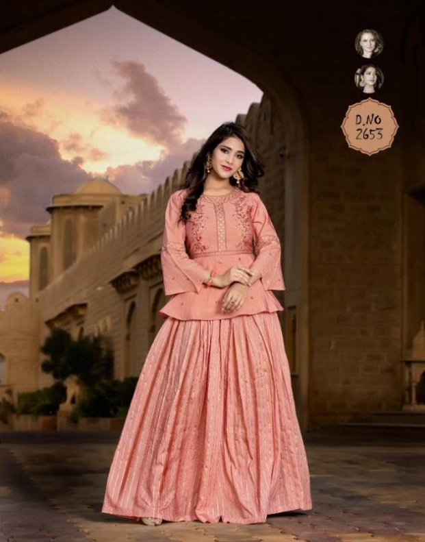 Paakhi By Yami Designer Top With Skirt Collection