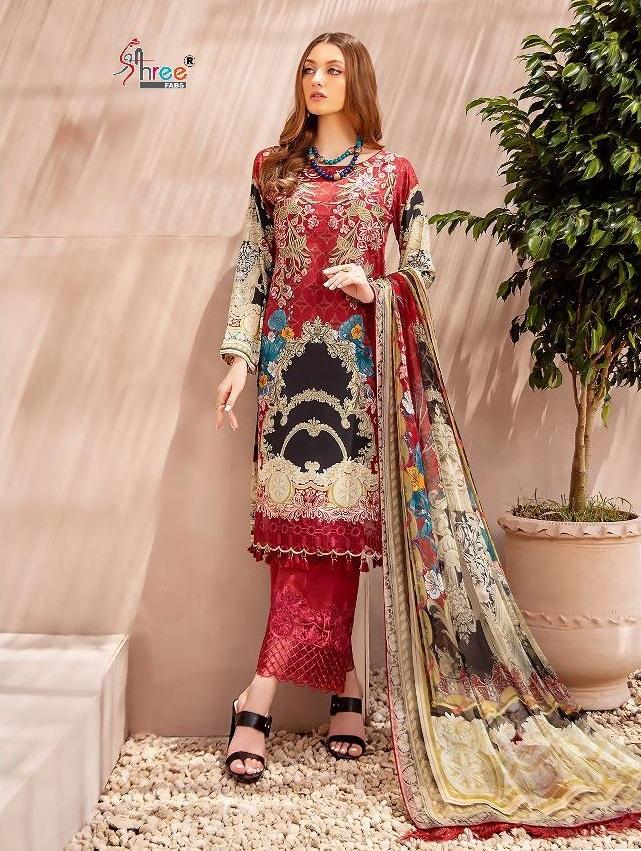 Shree Fab Chevron Luxury Lawn Collection vol 1 Latest Pakistani Salwar Kameez Suits Online