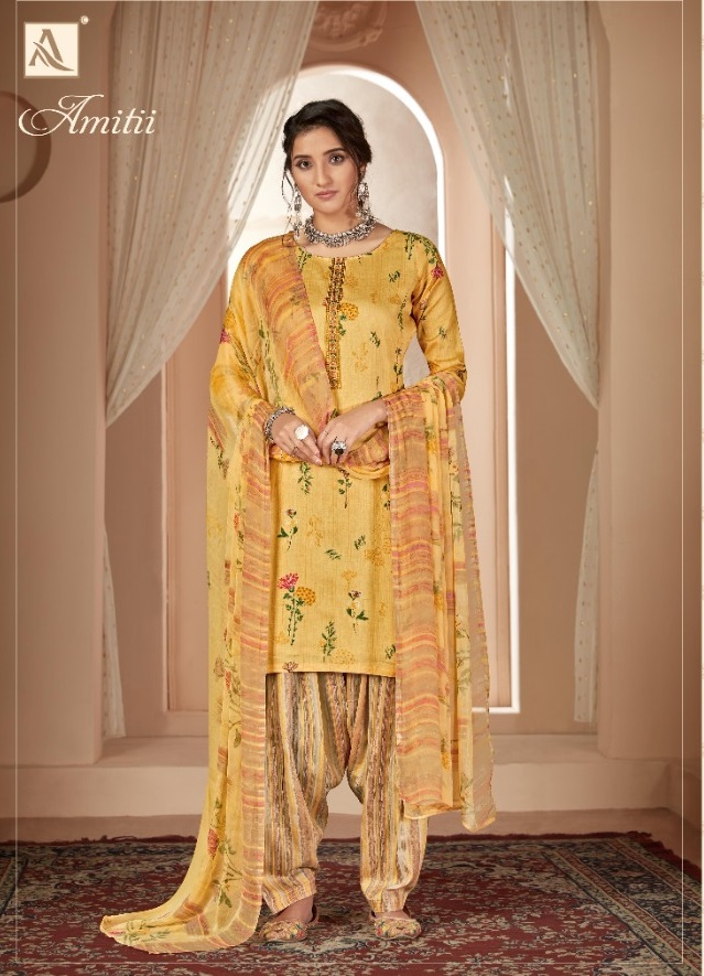 Alok Presents Amitii Printed Dress Material