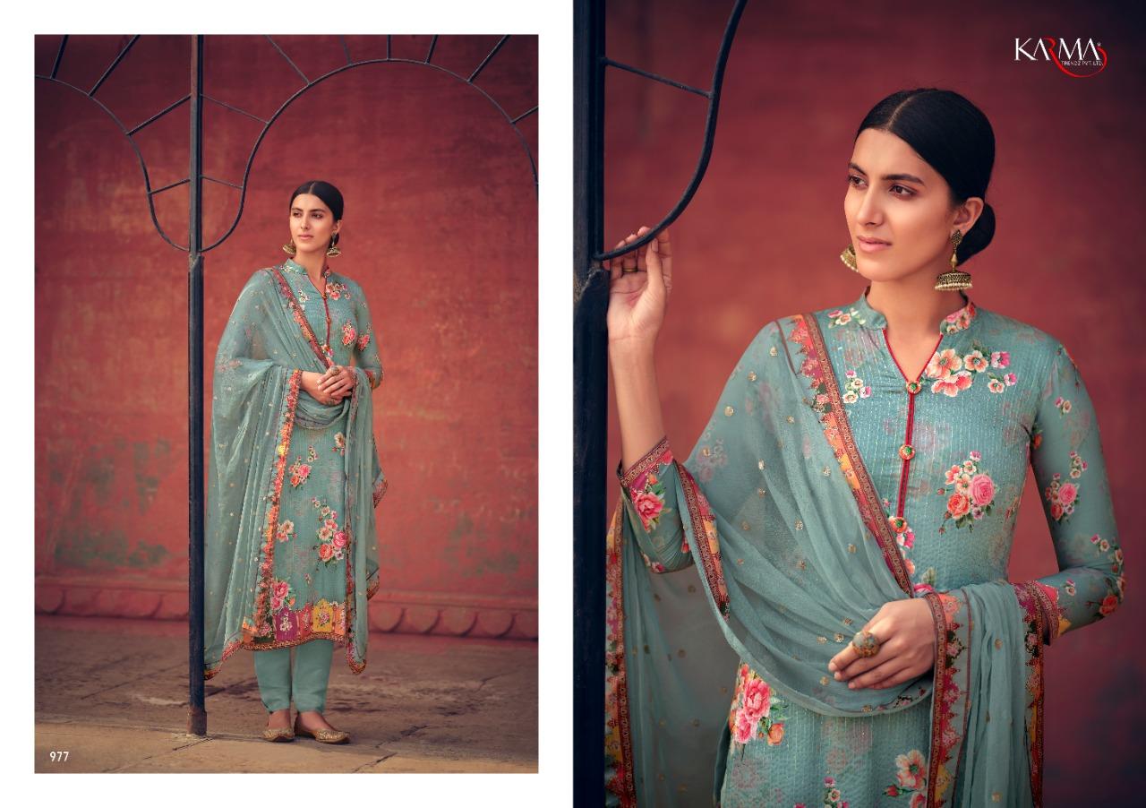 Karma Lamhaa 972 Series Printed Salwar Suit Collection