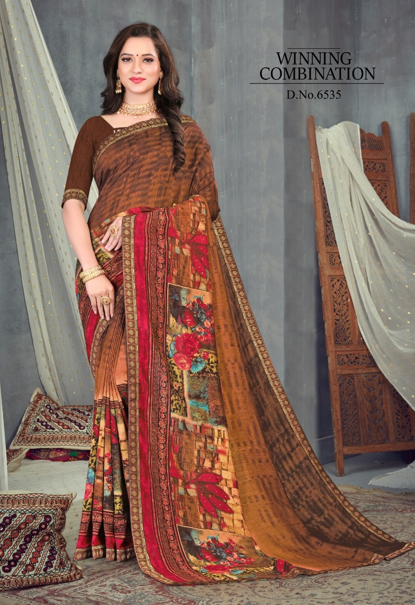 Sitka presents Khushboo vol 6  Printed Sarees Collection