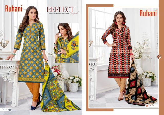 Ruhani vol 4  by Ganesha Pure Cotton Printed Dress Material Collection
