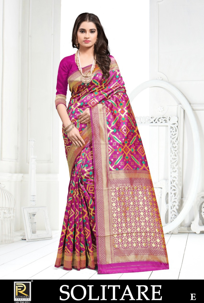 Ranjna   presents  Solitare  Running Wear Saree Collection
