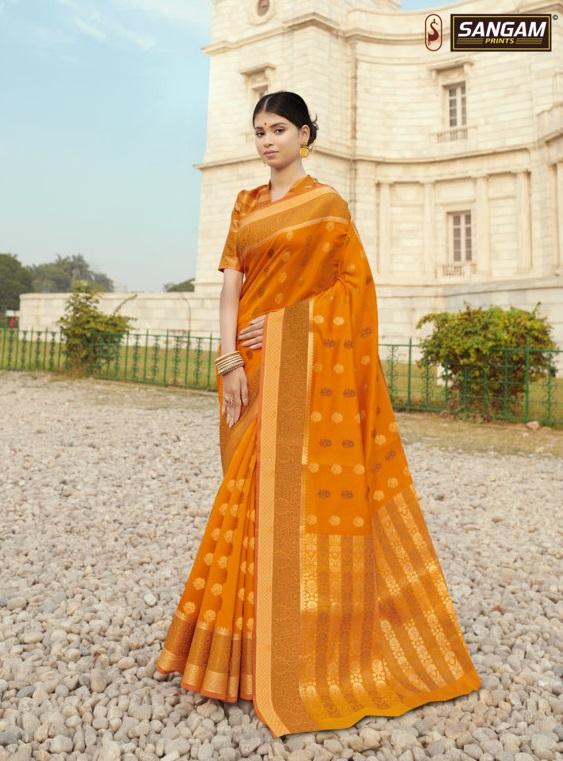 Sangam presents Sanjana Zari Weaving Silk Sarees