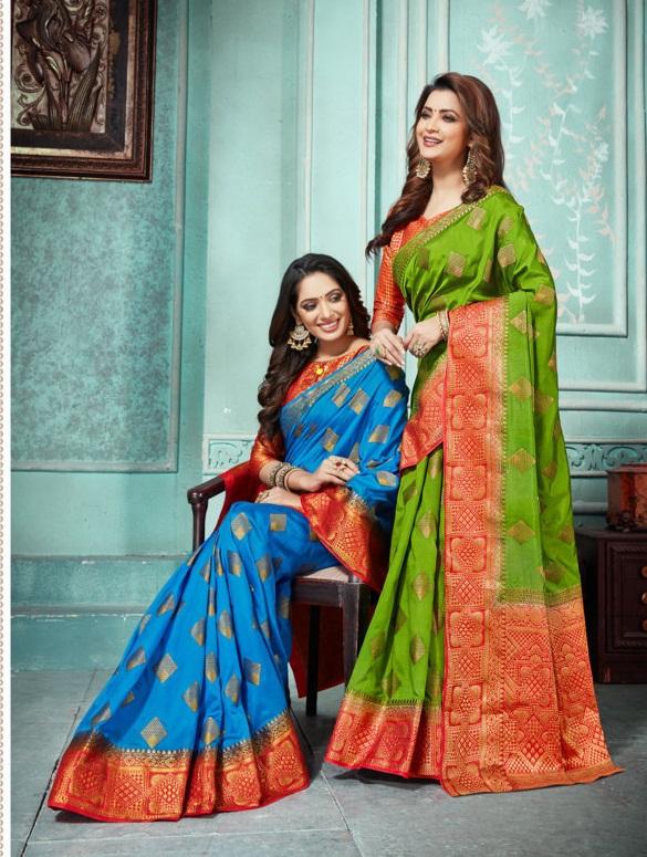Sangam presents  Rosie Silk   Sarees Collection