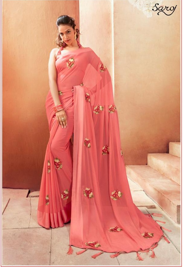 Saroj By Madhavi Designer party Wear Saree catalogue