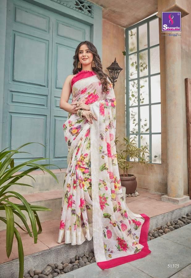 Shangrila By Flora Party Wear Linen Sarees catalogue