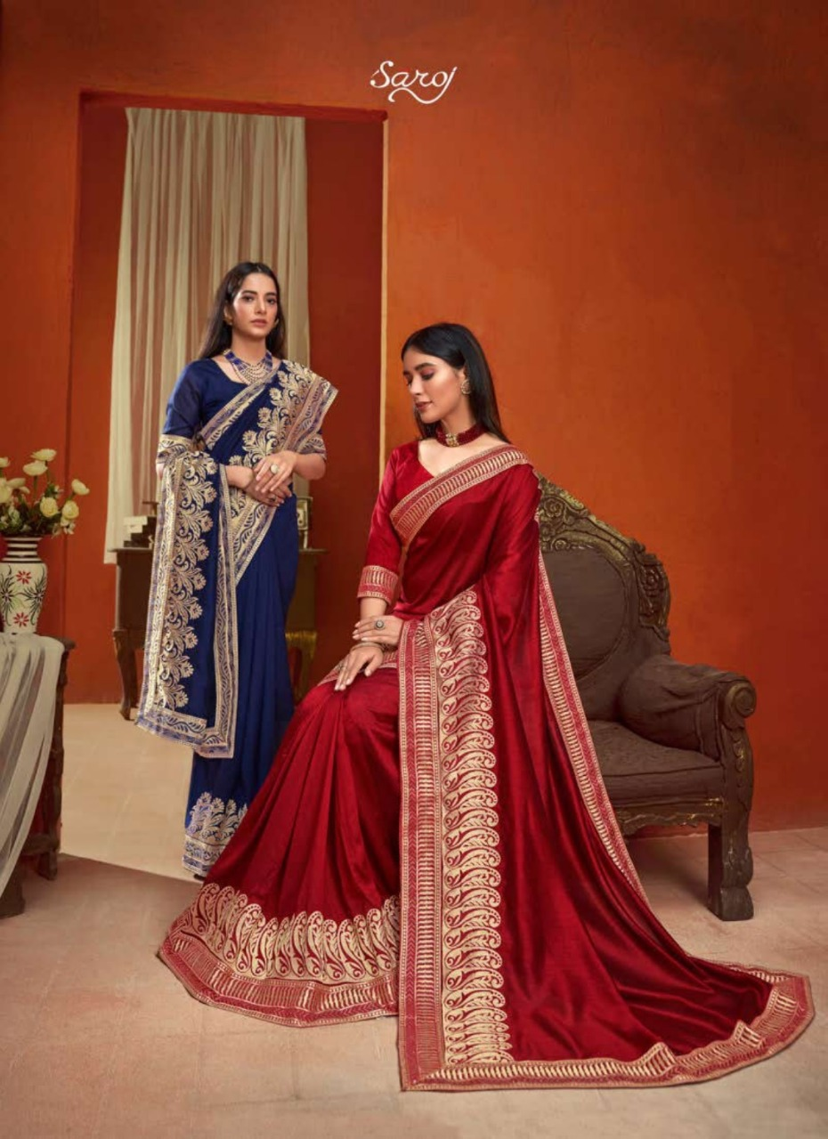 Saroj presents  Roopvati Festive Wear Silk Sarees Collection