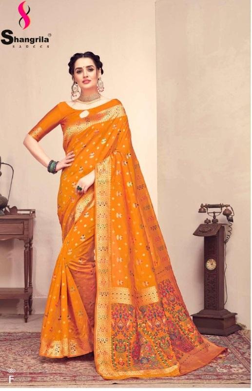 Shangrila presents Handicraft Silk Sarees Collection