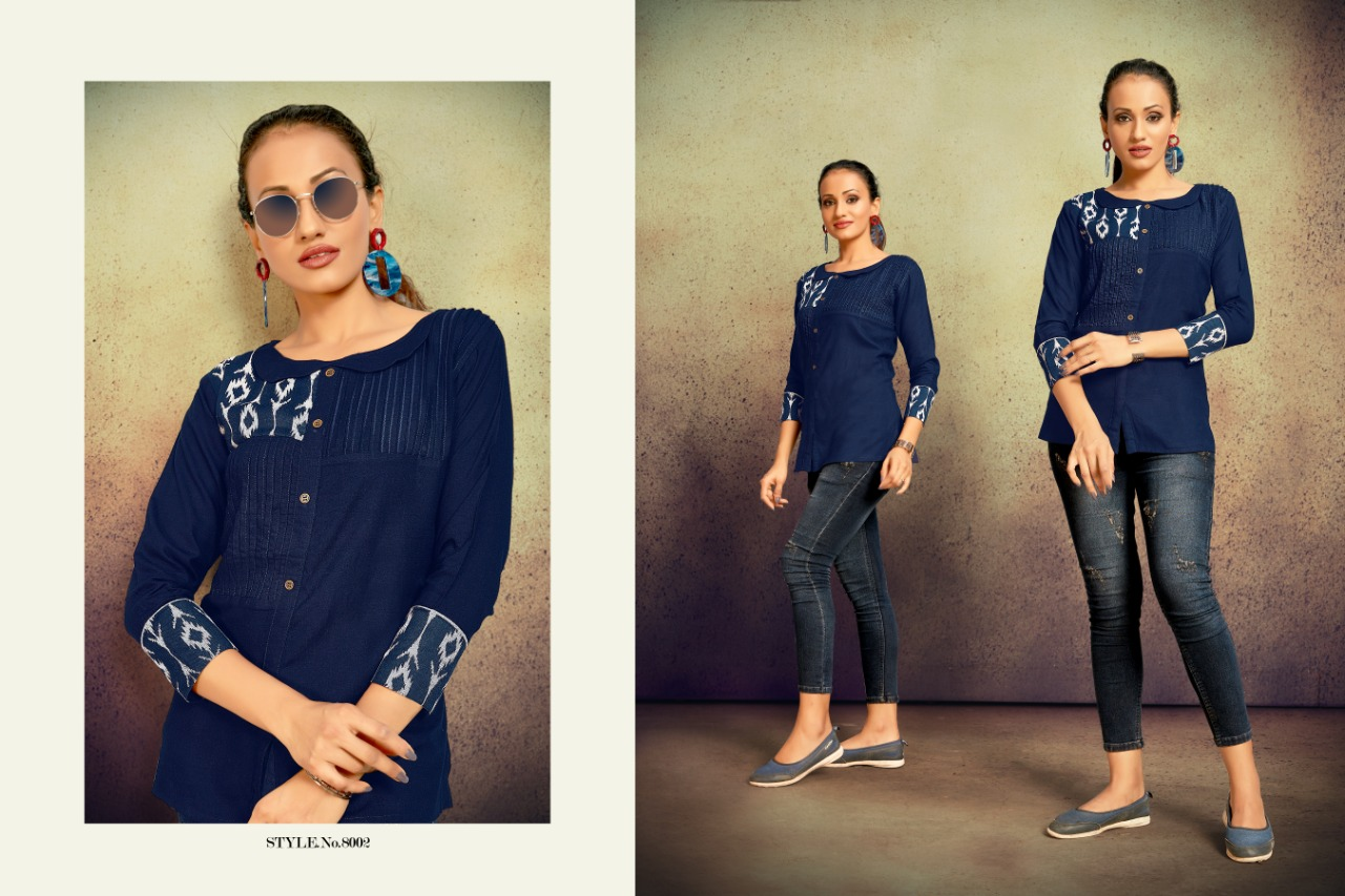 Sitka Present Tik Tok Casual Wear Printed Short Tops Collection