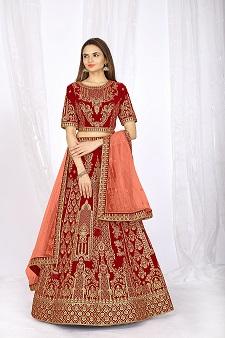 Red Bridal Expensive Lehenga Choli