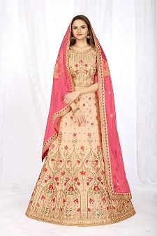 5054 Peach Designer Lehenga Choli With Expensive Dupatta
