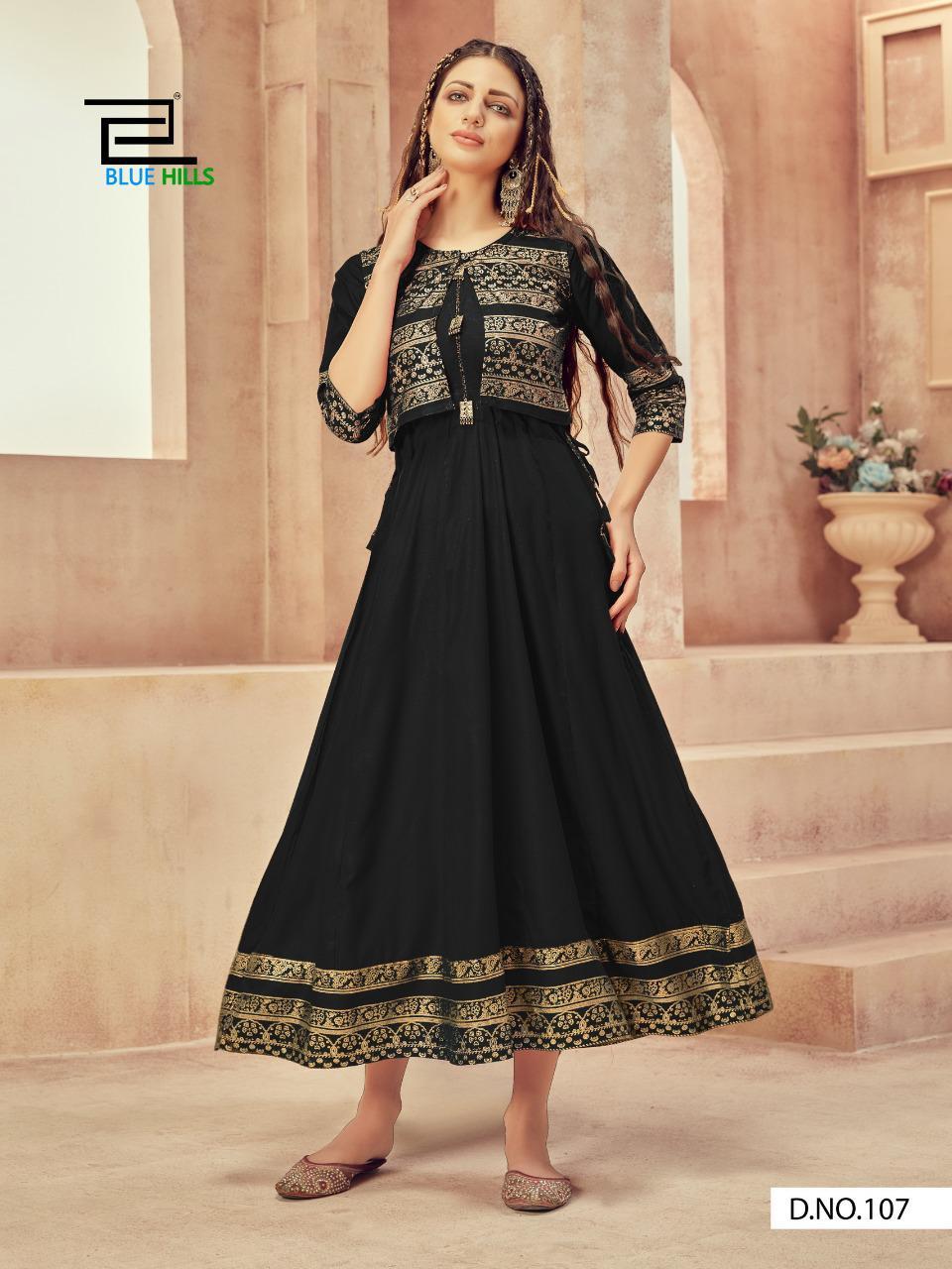 Blue Hills Buy Smart Fashion  Wholesale Anarkali Kurtis jacket  manufacturer Designer kurti catalog