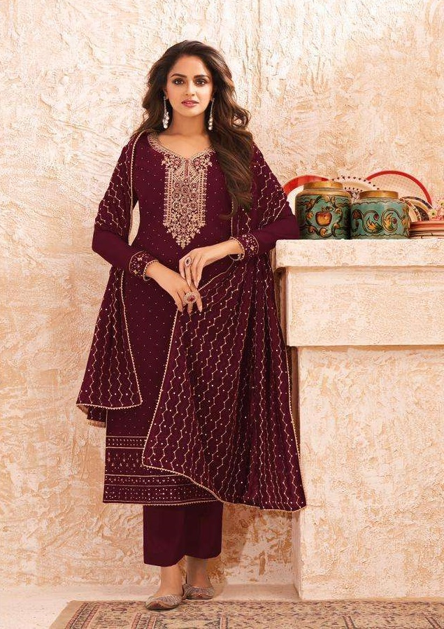 Aashirwad Gulkayra Nazmin latest Catalog 2021 Newly launched available for salwar kameez
