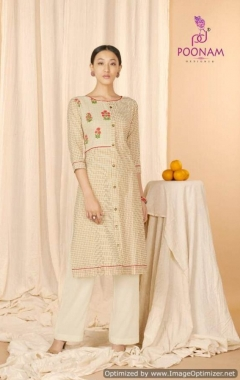 Aaria By Poonam Cotton Casual Wear Kurtis Collection