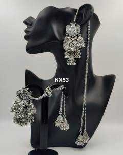 IJ Presents Silver Beaded Buy Beaded Earrings online at Best Prices in India