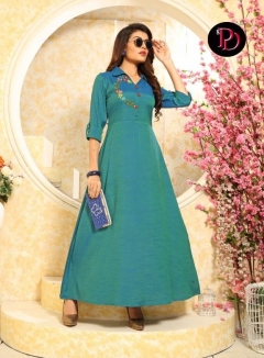 Dazzle By Poorvi Designer Long Kurtis Collection