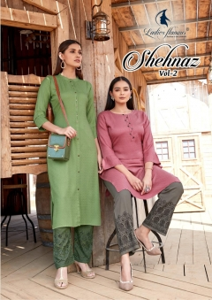 Ladies Flavour presents  Shehnaz vol 2 Designer Kurti With Bottom