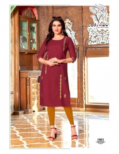 LadyView  Has Launched Kaya vol 1  Casual Wear Kurti Collection